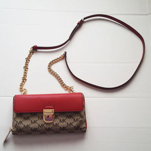 4d7d8385a5cd3 MICHAEL Michael Kors Bags - Michael MK Kors Bridgette Scarlet Wallet On  Chain
